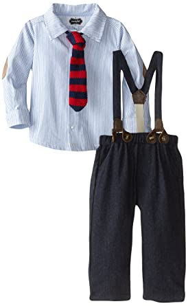 025aa54766f7 Amazon.com: Mud Pie Baby Boys' Suspender Pant Set: Clothing