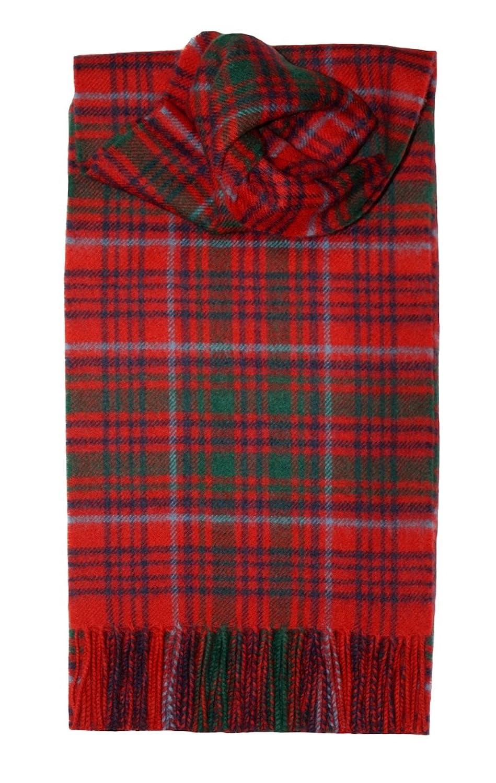 100/% Lambswool Grant Modern Tartan Clan Scarf /& Gift Wrap Made in Scotland by Lochcarron