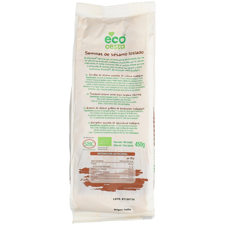Semillas Ecocesta Sesamo Tostado Bio Bolsa 450 G: Amazon.es: Alimentación y bebidas