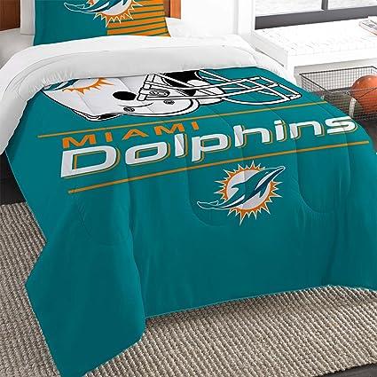 The Northwest Co Mpany Nfl Miami Dolphins Draft Twin 2 Piece Comforter Set