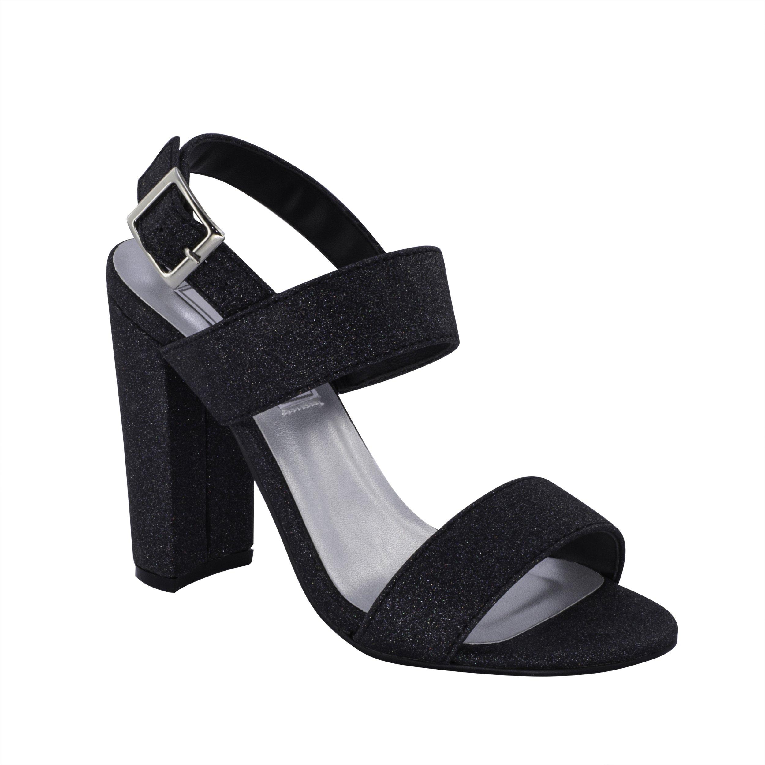 Touch Ups Women's Jordan Heeled Sandal, Black, 9 M US