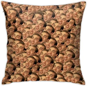 """MOMMOT Nicolas Cage Pillow Case 18"""" x 18"""" Inches Covers for Bedroom Safa Gifts, Double-Sided Printed (Pillow Core not Included)"""