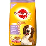 Pedigree Chicken and Rice, Dry Dog Food for Senior Dogs, 3Kg