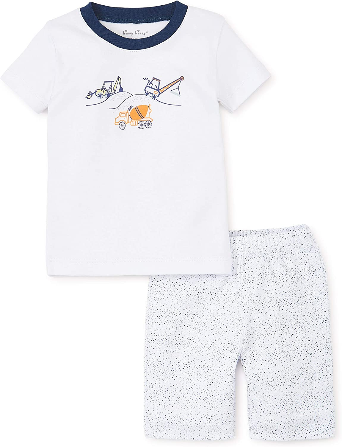 Kissy Kissy Baby-Boys Infant Construction Short Pajamas Set