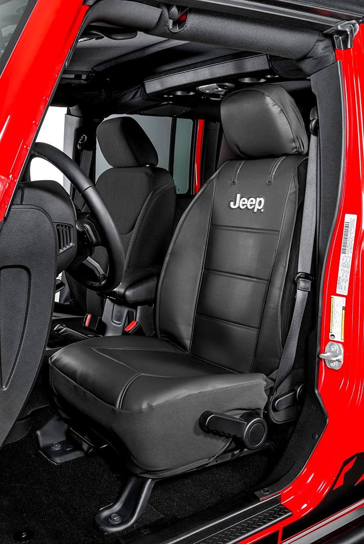 Power Parts Automotive GmbH Housses de si/ège Jeep avec logo Jeep brod/é Paire