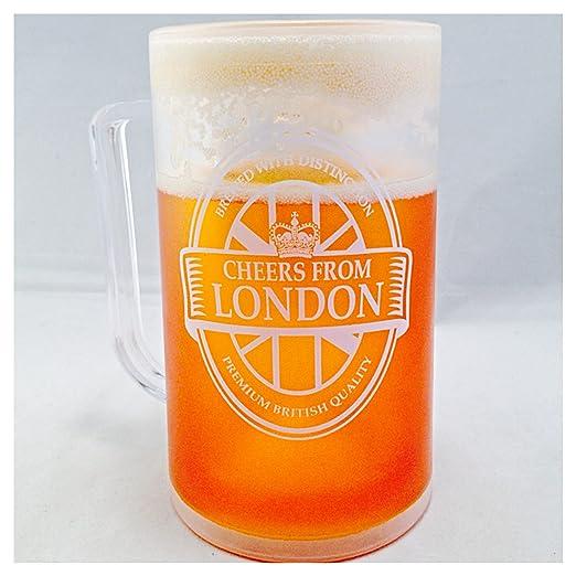 CHEERS del LONDON Taza de cerveza TARNKARD: Amazon.es: Hogar