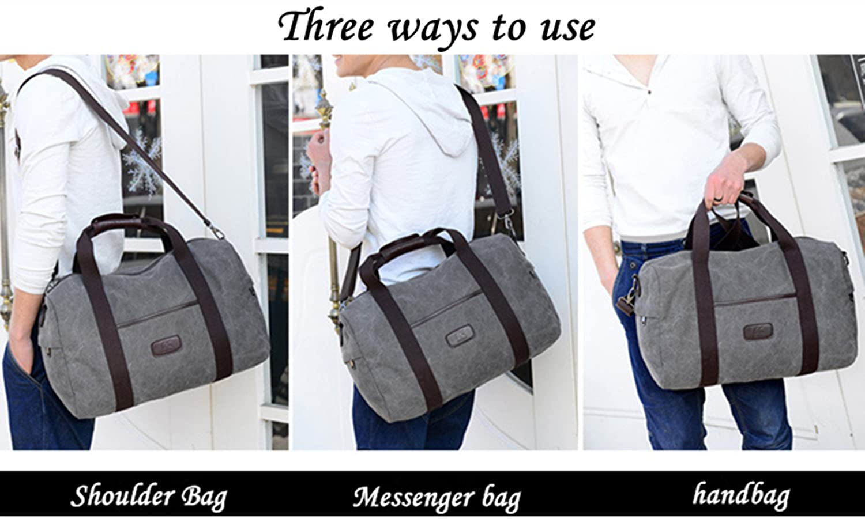 TEAMEN Bolsas de Viaje gris gris large