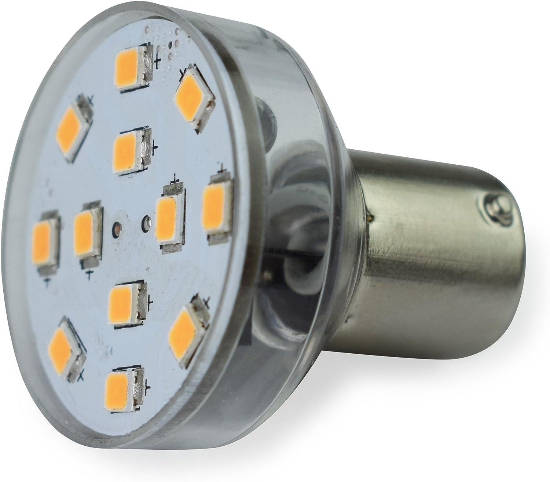 Warm White 3500K, 2-Pack Long Neck Leisure LED RV Trailer Motorhome LED Spot Light 1156 1139 1141 1383 LED Bulb 2 Watt 275 Lumen WW 10-30Volt 12Volt Long Neck