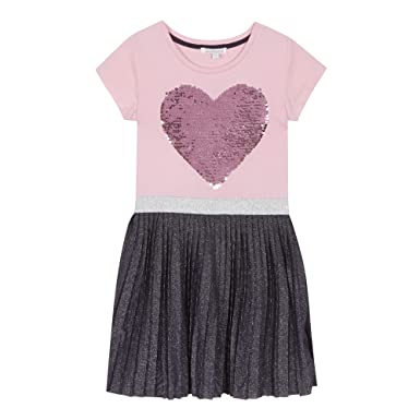 Bluezoo Kids Girls/' Pink Sequinned Heart Top