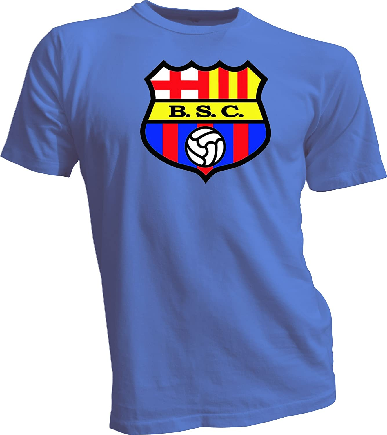 Amazon Com Gildan Barcelona Sporting Club Guayaquil Ecuador Futbol Soccer T Shirt Medium Blue Clothing