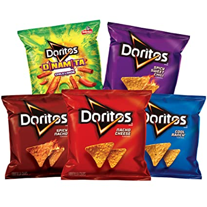 Amazon.com: Doritos Flavored Tortilla Chips Variety Pack, 40 Count
