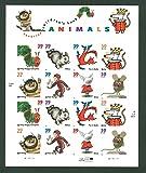 Favorite Children's Book Animals, Full Sheet of 16 x 39-Cent Postage Stamps, USA 2005, Scott 3987-94