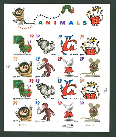 Amazon.com: Favorite Children's Book Animals, Full Sheet Of 16 X ...