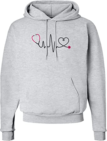 Soft Heartbeat Mens Pullover Hoodie Coat with Pockets