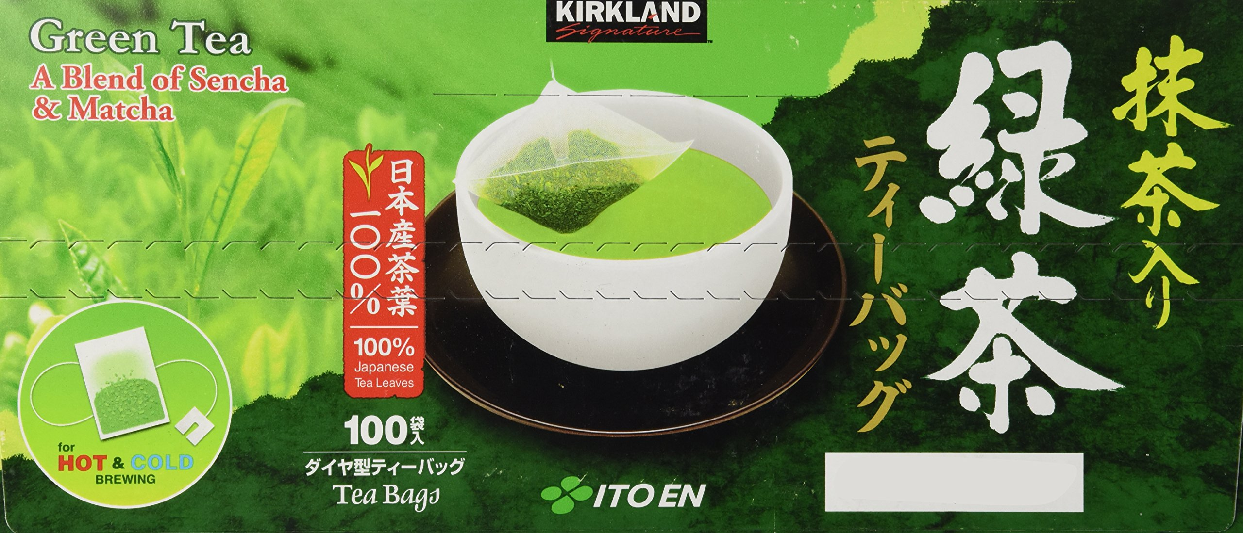 Kirkland Signature Ito En Matcha Blend (Green Tea), 100% Japanese Green Tea Leaves, 100 Tea Bags by Kirkland Signature