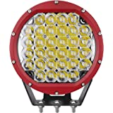Primelux Waterproof 8-inch 14400 Lumens Off Road LED Driving Light - 32x5W Cree Spot Beam Compatible with Jeep Wrangler…