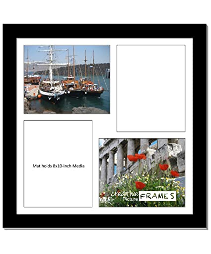 Amazon.com - CreativePF [2020bk] Black Picture Frame with 4 Opening ...