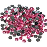 Pack of 1000 x Rose Crystal Flat Back Rhinestone Diamante Gems 4mm