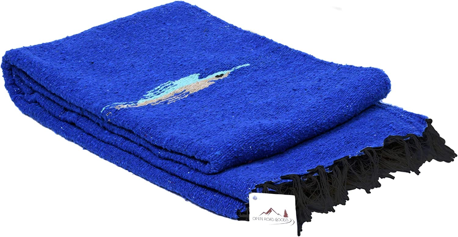 Open Road Goods Yoga Blanket - Thick Mexican Thunderbird Blanket - Handmade and Made for Yoga!