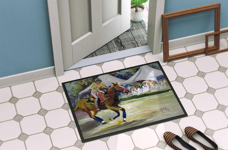 Multicolor Carolines Treasures Pelican Dressed As a Reindeer Indoor or Outdoor Mat 24 x 36