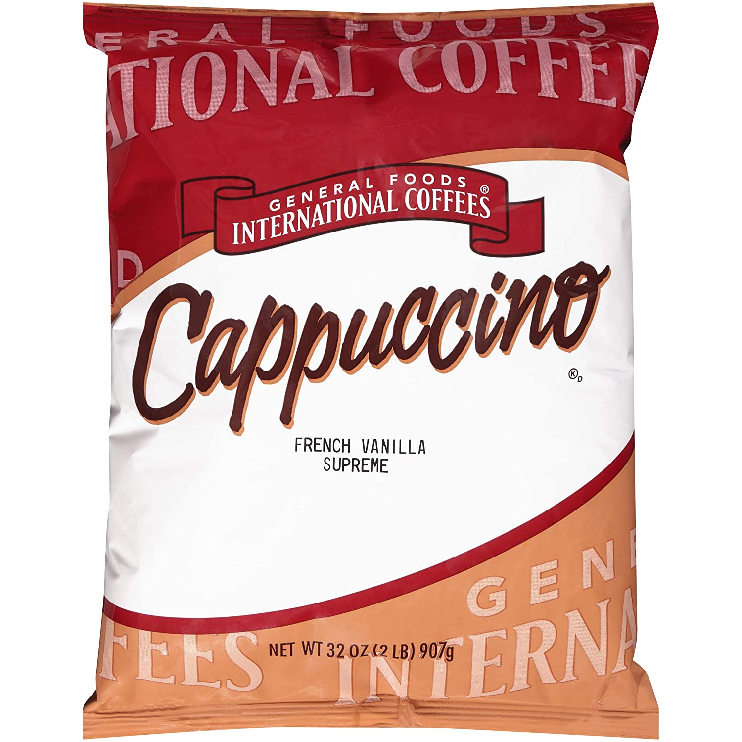 General Foods French Vanilla Supreme Instant Coffee Mix (2 lb Bags, Pack of 6)