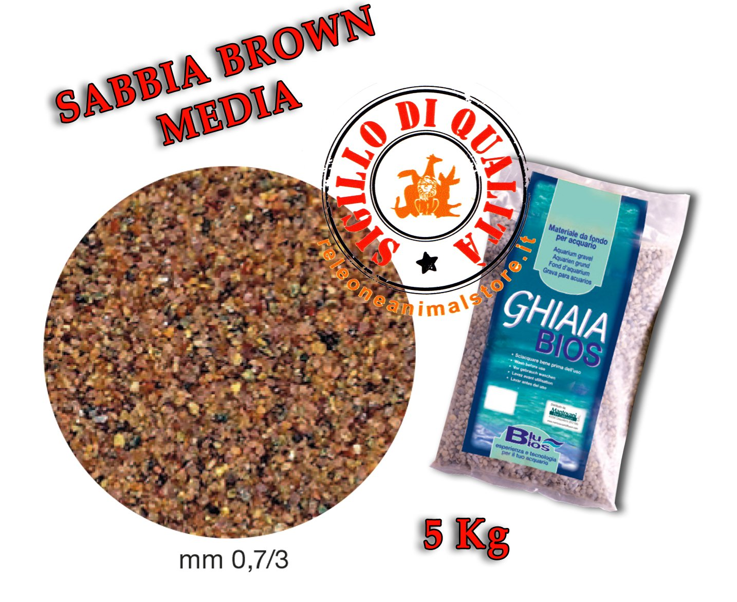 Mantovani Pet Diffusion Gravilla Bios Arena Brown Media - 5 kg: Amazon.es: Productos para mascotas
