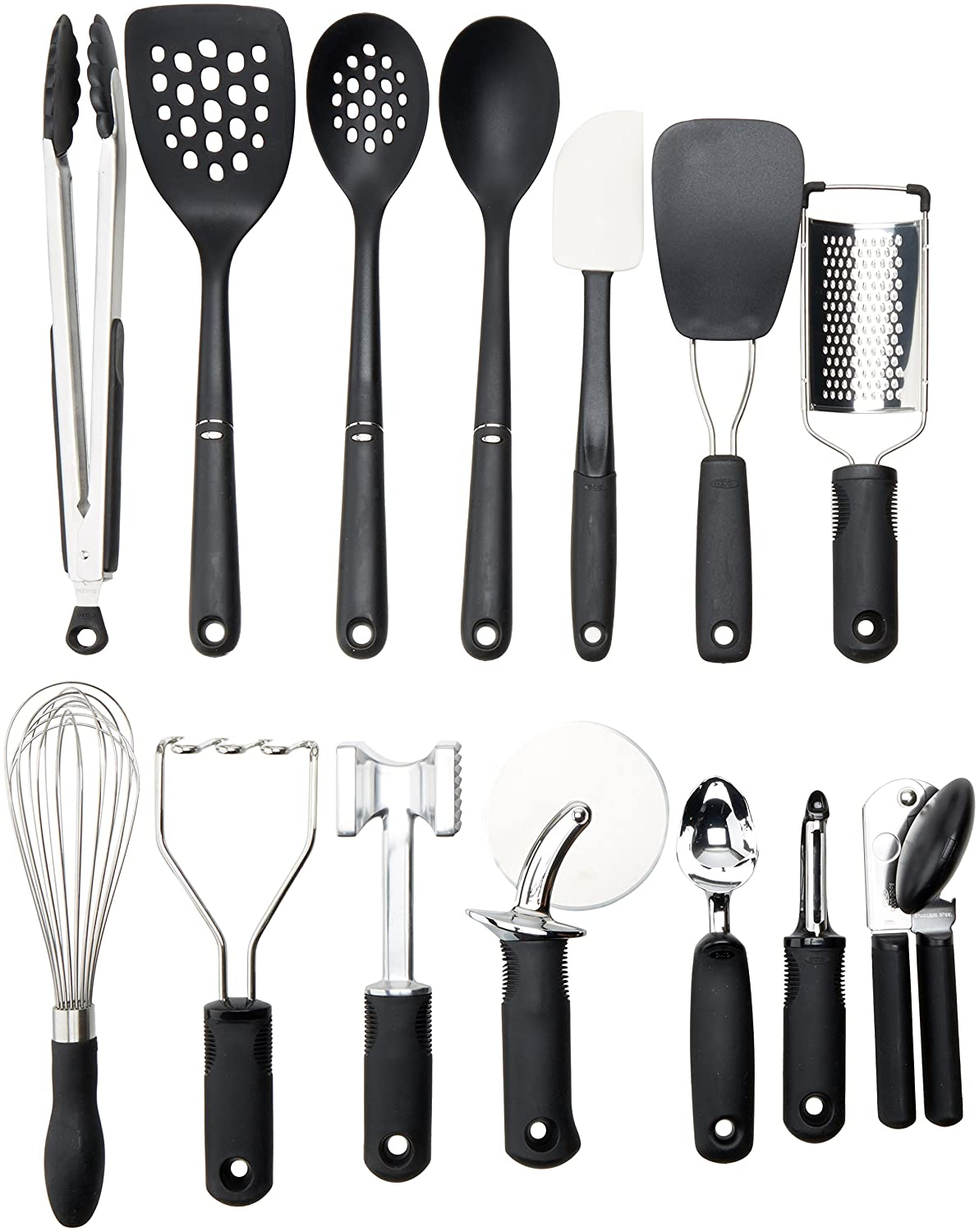 amazon com oxo 1069228 good grips 15 piece everyday kitchen tool rh amazon com OXO Hand Tools oxo 10 piece kitchen tool set