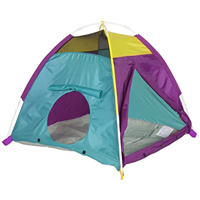 "Pacific Play Tents Kids My First Fun Dome Tent - 42"" X 36"" - Purple/Blue/Yellow: Toys & Games"