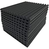 96-Pack Teraves Acoustic Soundproofing Foam Panels for Studio (Charcoal)