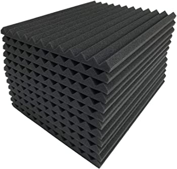 96-Pack Teraves Acoustic Soundproofing Foam Panels for Studio