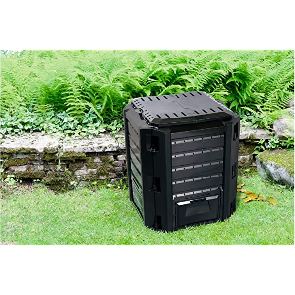 Keter - Compostador ECO, con capacidad de 320 L, Color gris ...