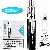 Sigaretta elettronica INSHARE Kit di da 50W Scatola mod, atomizzatore da 0,5 ohm + 2 ml, funzione di controllo dell'uscita dell'aria, con batteria 18650 integrata da 2000 mAh, senza nicotina e liquido E