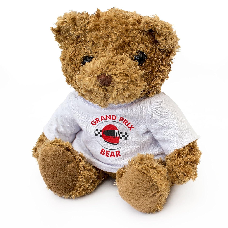 Motor Racing Gift Present London Teddy Bears . GRAND PRIX Teddy Bear NEW Cute And Cuddly
