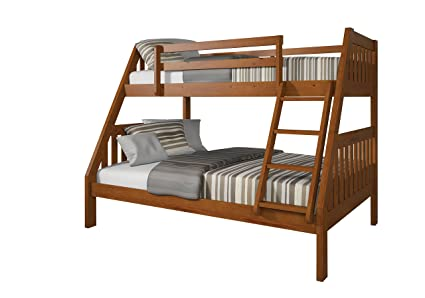 Amazon Com Acme Furniture Ryo Bunk Bed Oak Twin Over Full