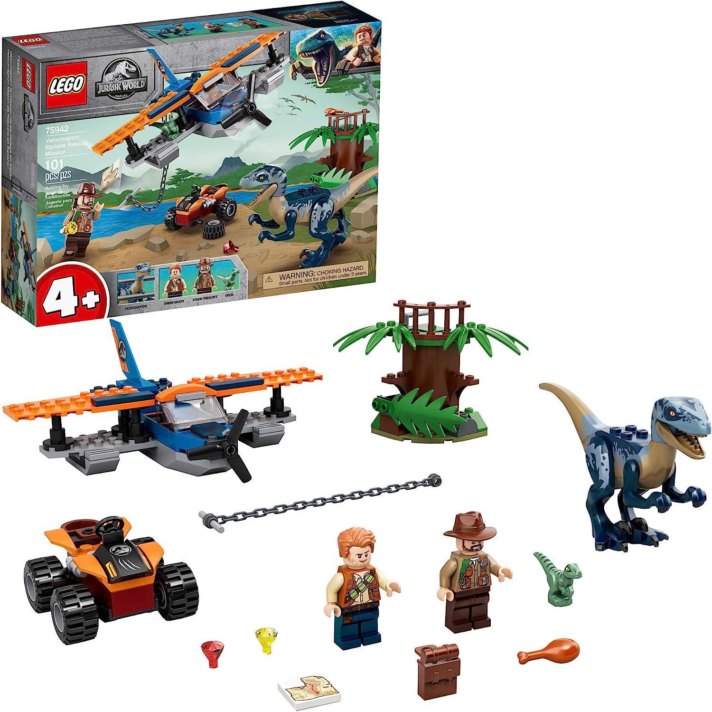 LEGO-75942-JURASSIC-WORLD-VELOCIRAPTOR-BIPLANE-RESCUE NUOVO SPEDIZIONE IMMEDIATA