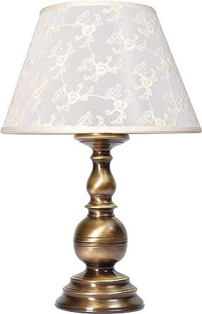 Premium lámpara de mesa de latón bronce blanco estilo modernista ...