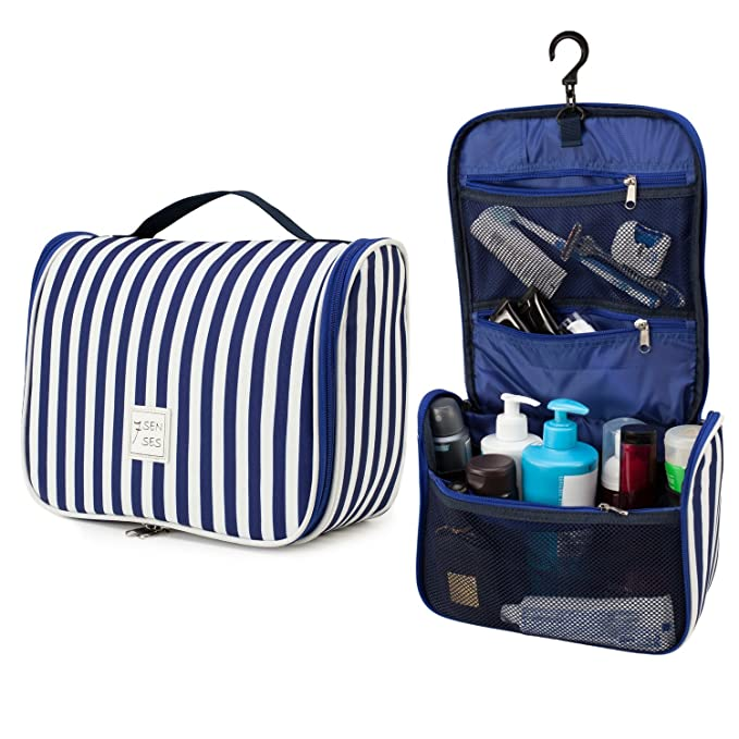 6fe8cf01960b Amazon.com  7Senses Hanging Toiletry Bag - Large Capacity Travel Bag for  Women and Men - Toiletry Kit