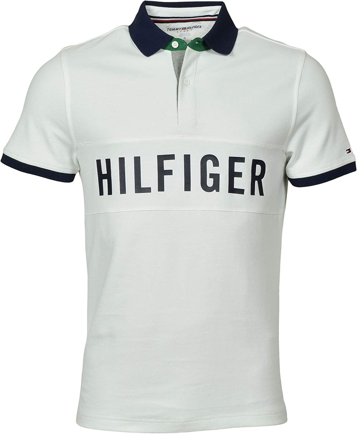 Tommy Hilfiger Mens Classic Fit Performance Logo Polo Shirt