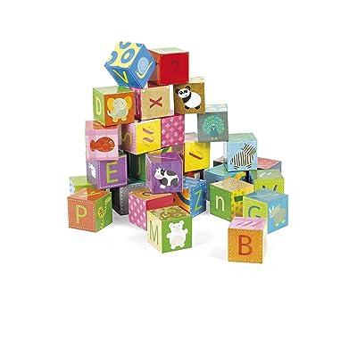 Janod Kubkid Alphabet Blocks: Toys & Games