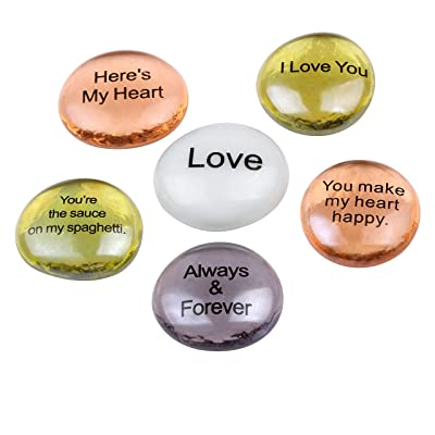 Holy Land Market Love and Romance Glass Stones Set - Model II : Garden & Outdoor
