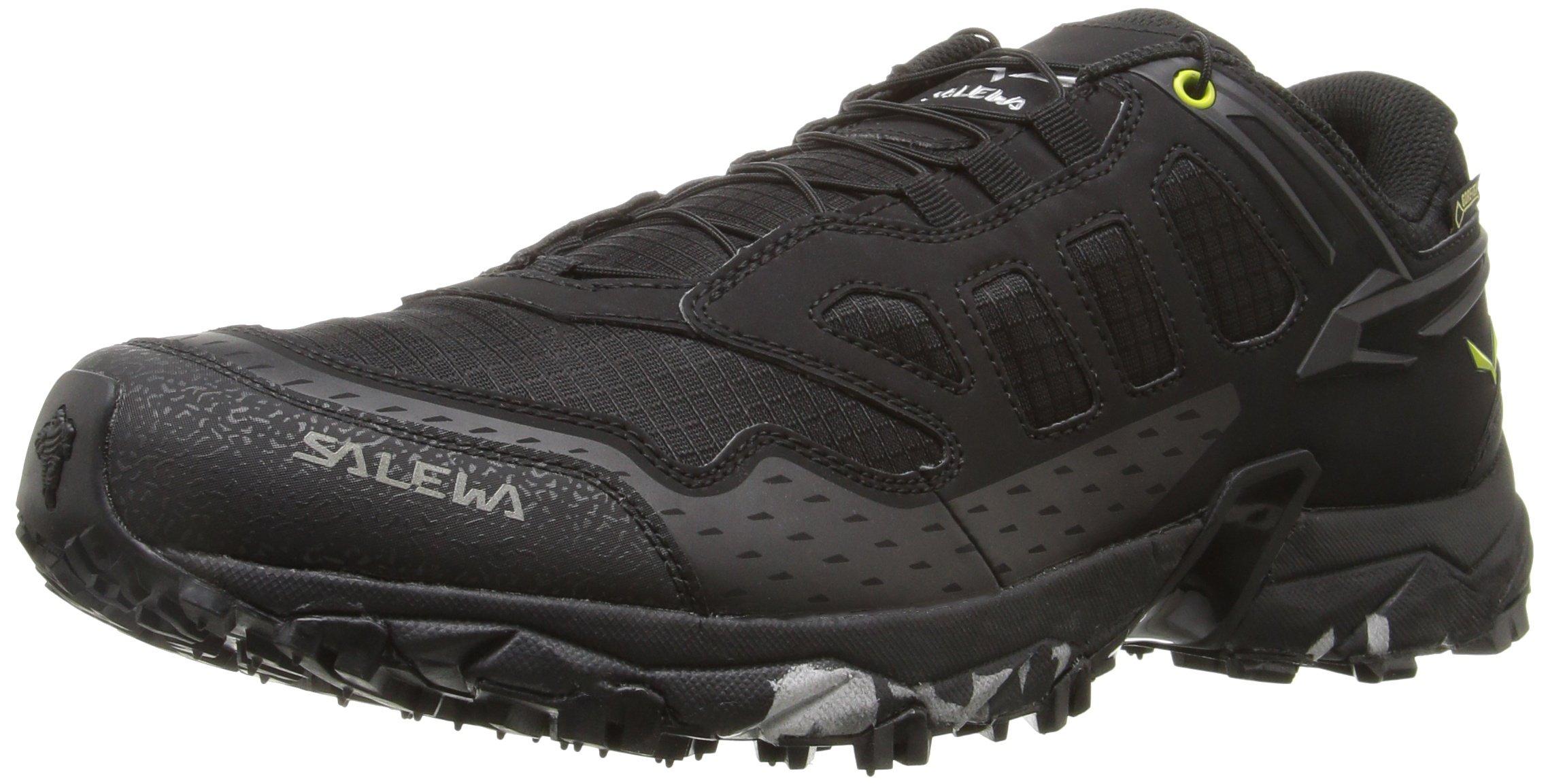 Salewa Men's Ultra Train GTX Mountain Training Shoe, Black/Swing Green, 9.5
