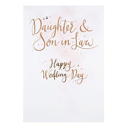 Amazon hallmark daughter and son in law wedding card hallmark daughter and son in law wedding card congratulations large m4hsunfo