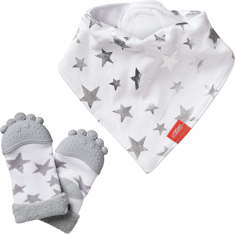 Nuby - Juego de baberos para dentición y calcetín de bebé: Amazon.es: Bebé