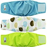 Dog Diapers Wraps for Male Dogs Reusable Washable Eco-Friendly Belly Bands - 3 Pack Soft Breathable Mesh Secure Velcro