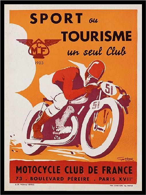 Canvas Sport ou Tourisme un seul Club Motorcycle Club de Art print POSTER