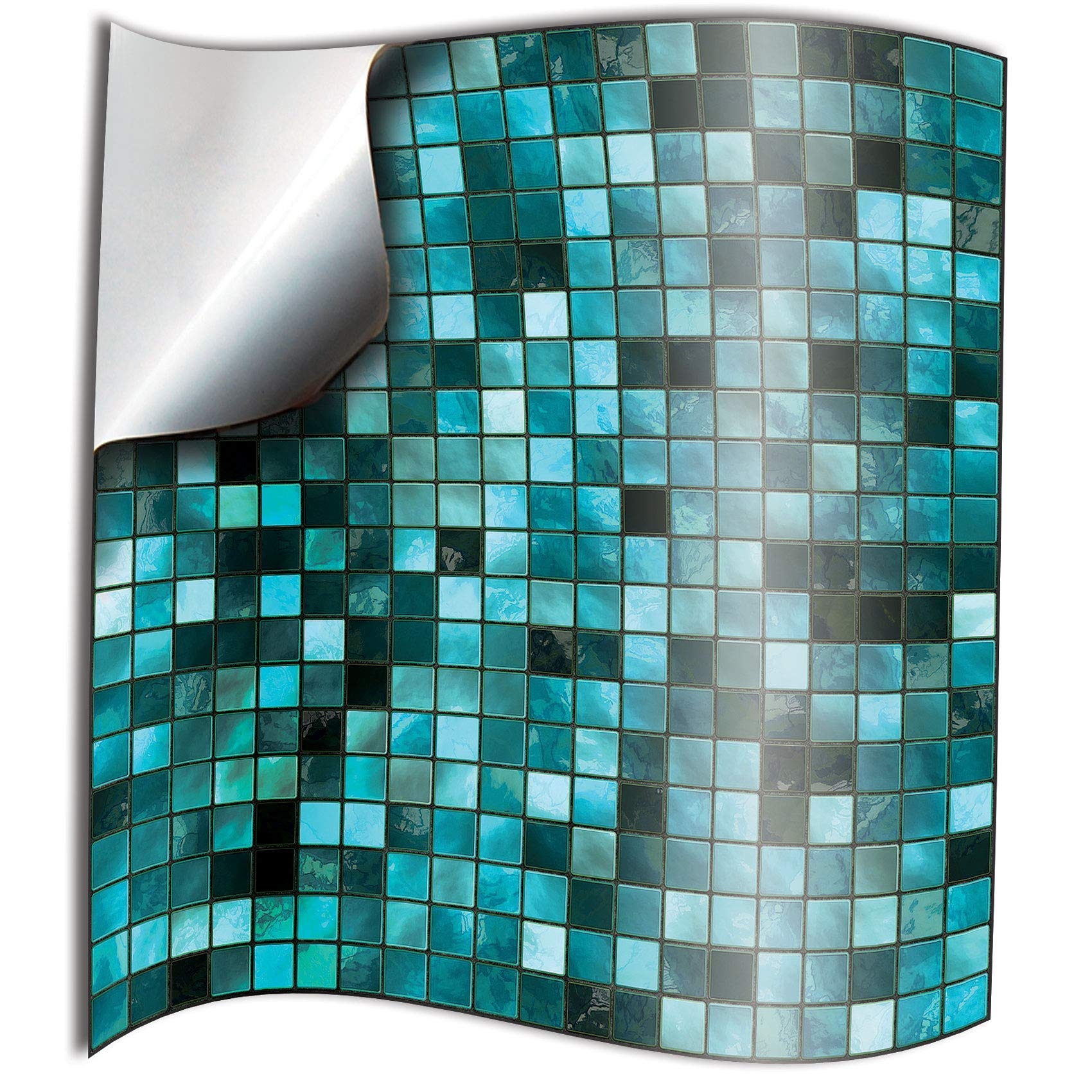 24pc Turquoise Thin Printed In 2d Kitchen Bathroom Tile Stickers To Cover 15cm Tp3 6 Inch Square Tiles Directly From Tile Style Decals Full Pack Of 24 Buy Online In Guernsey At Desertcart