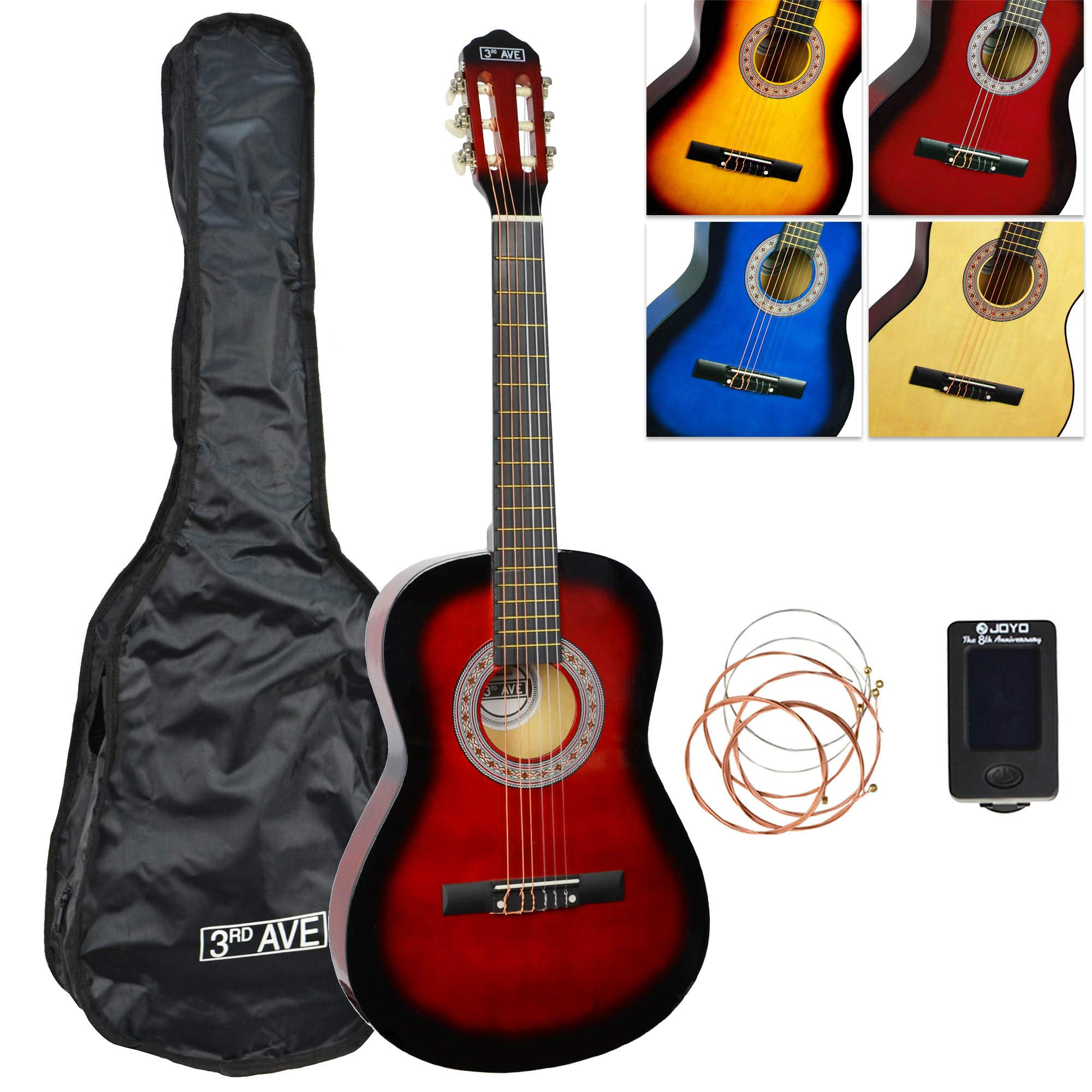 3rd Avenue 3/4 Size Classical Guitar Pack - Redburst