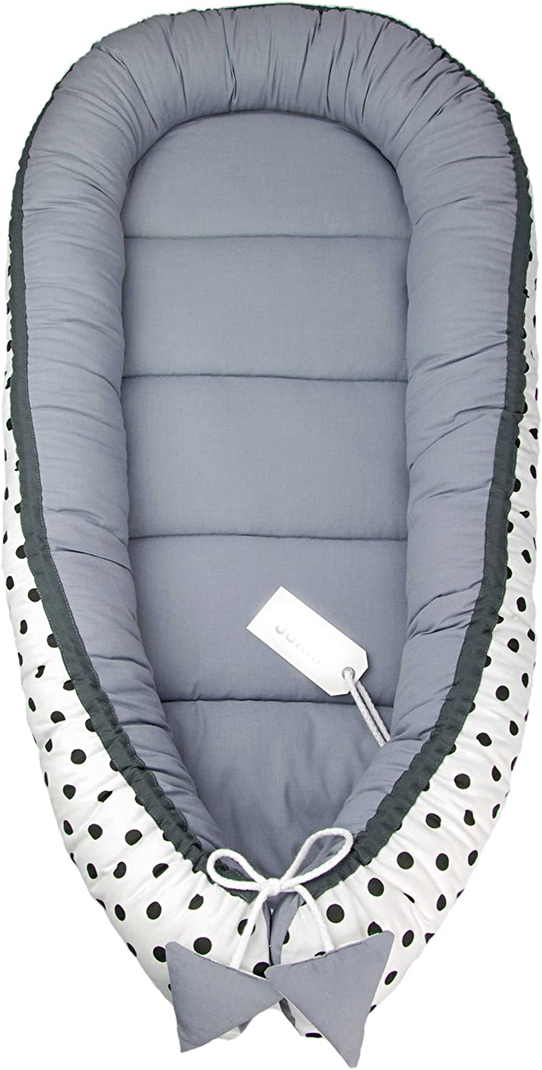 5 Piece Baby Set incl 50 cm x 90 cm Baby nest Neck Pillow Blanket Turquoise Baby Mattress Anti-allergenic Cuddly Soft for Babies 0 to 7 Months. Flat Pillow