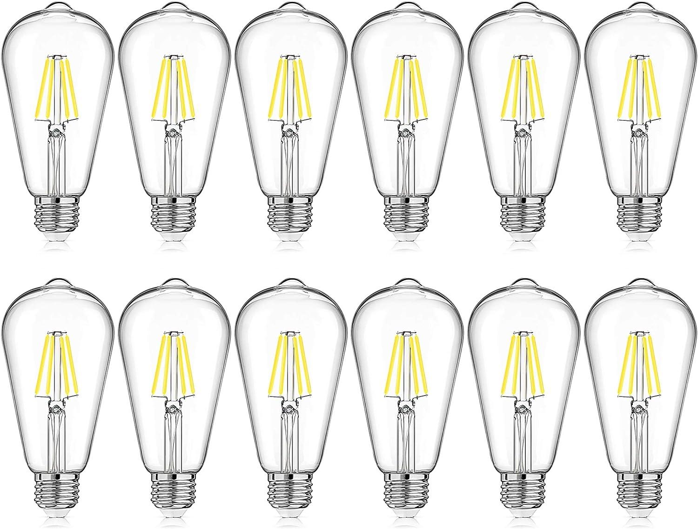 Milk White ST64 LED 4W Modern Lighting LED White Edison Bulb White Light 3500K E26