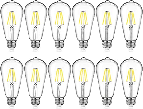 Vintage Carbon Industrial Steampunk LED Filament Energy Saving Light Bulb 5w=40w